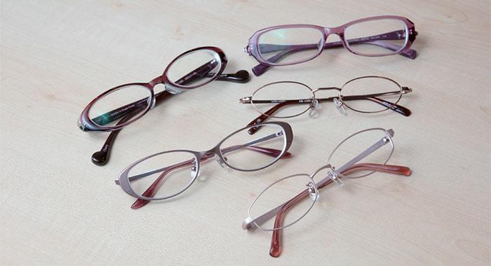 老けた印象のメガネ