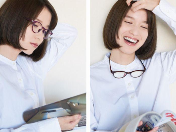 カカル 首掛け式老眼鏡 1  装用イメージ