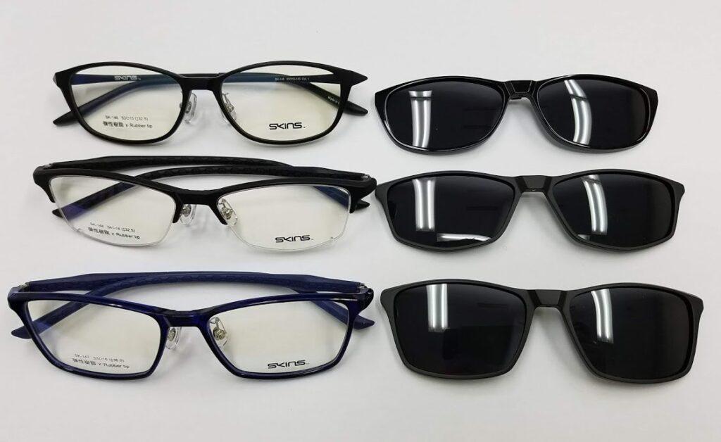 クリップサングラス 便利なメガネ サングラス SKINS
