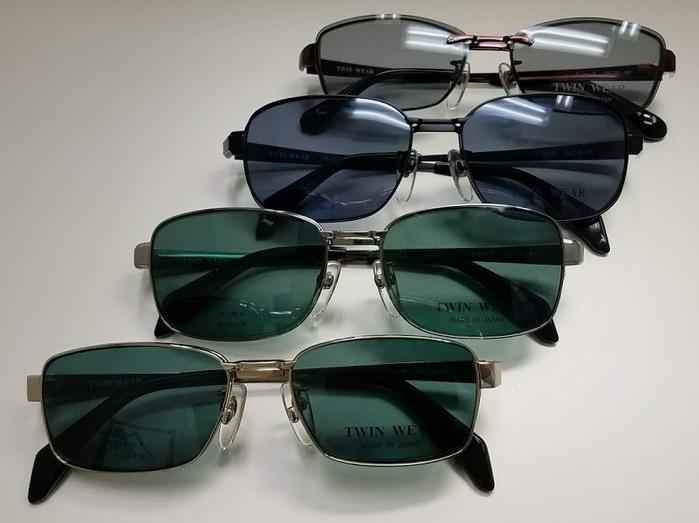 クリップサングラス 便利なメガネ サングラス TWINWEAR