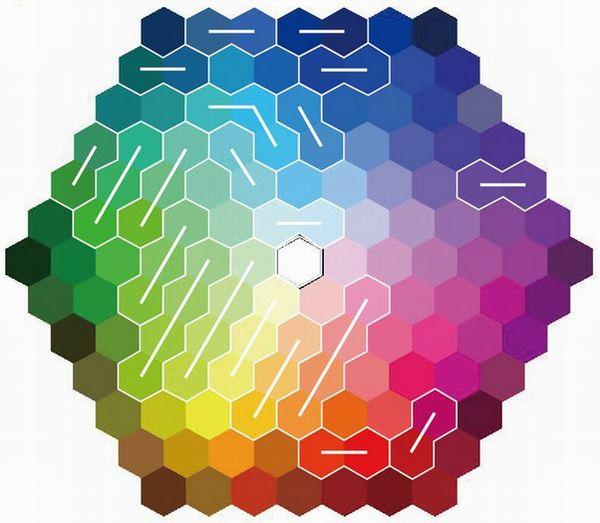 ナイトアシスト カラーチャートの色変化