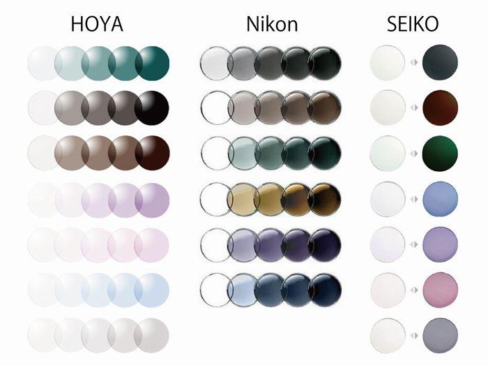 調光レンズの種類