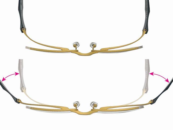 DUN メガネ ゴムメタル リモート映え 掛け心地が良い トヨタ F1サスペンション用素材