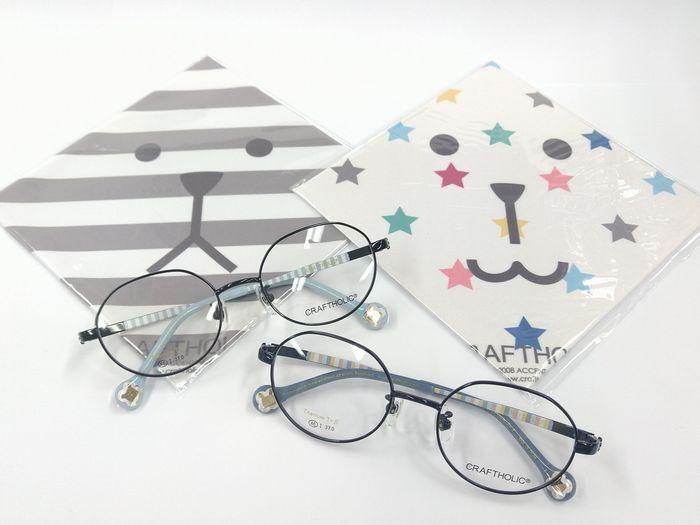 クラフトホリック メガネ 子供用メガネ ゆるかわ カラフル
