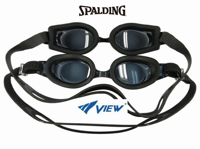 度付きスイミングゴーグル 度付スイミングゴーグル SPALDING スポルディング SWANS スワンズ VIEW ビュー