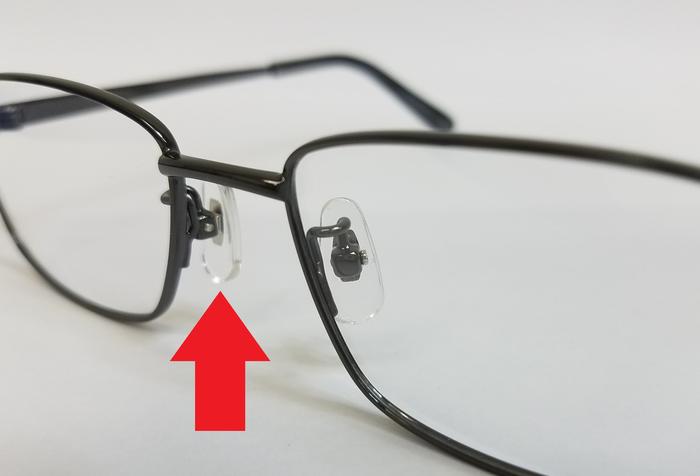 メガネパーツ 遠近両用 メガネ選び パッド