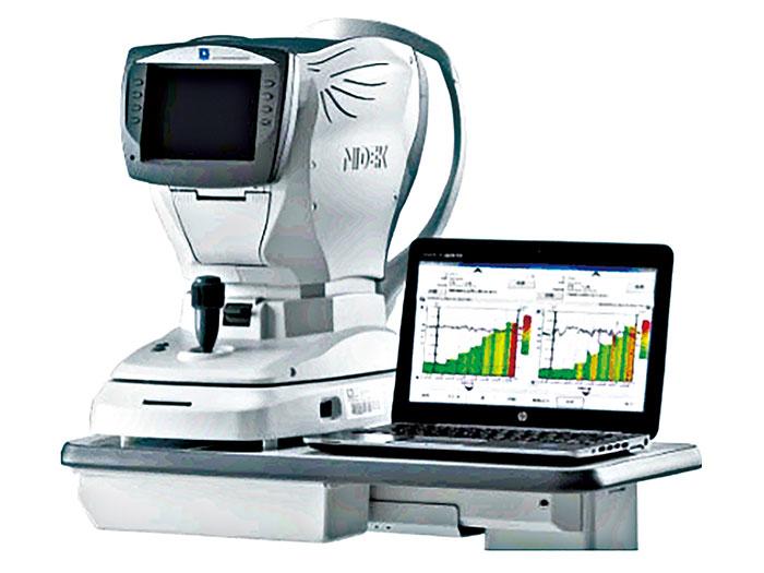 眼科でも使用されている高度な検査機「オートレフケラトメーター」